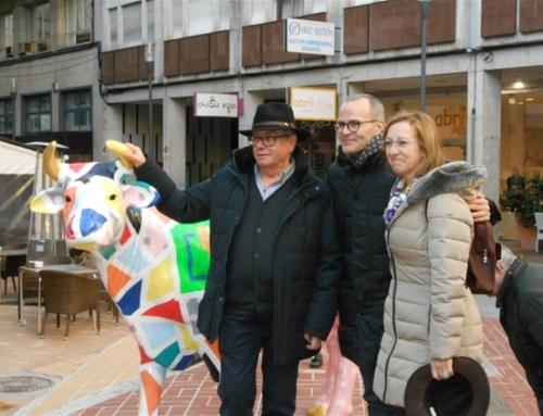 Con Jesús Vazquez Alcalde de Ourense y Geles Rodriguez de la Fundación Cum Laude