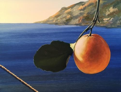 Naranja en paisaje